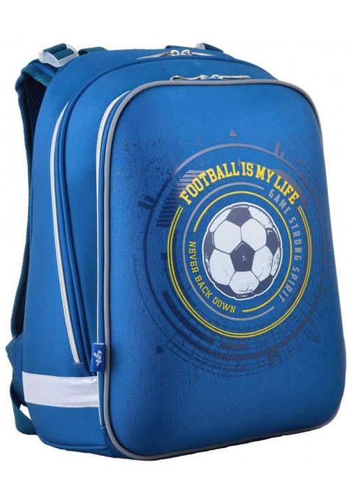 Школьный каркасный рюкзак 1Вересня H-12 Football