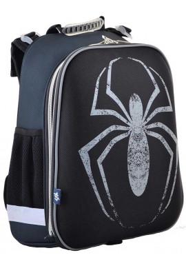 Фото Черный школьный рюкзак с пауком 1 Вересня H-12-2 Spider