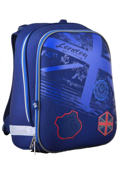 Синий рюкзак с жестким каркасом YES H-12 Route 66