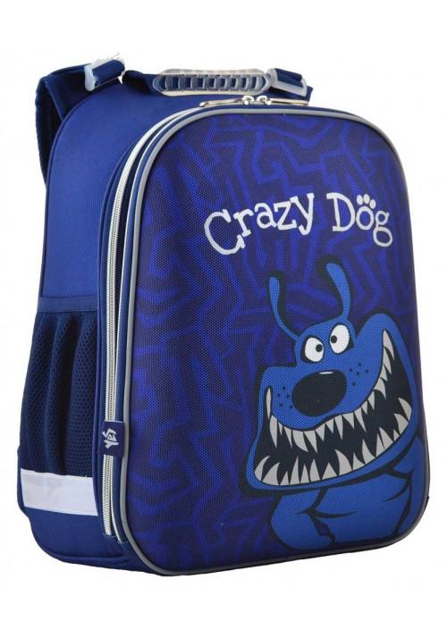 Рюкзак в школу синего цвета YES H-12-2 Crazy dog