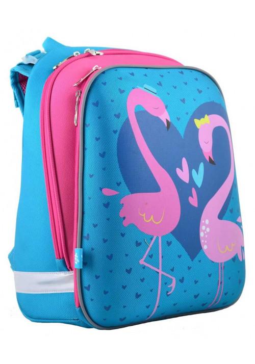 Яркий школьный рюкзак с фламинго YES H-12 Flamingo