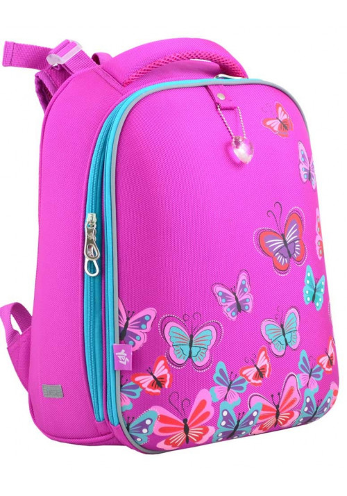 Розовый школьный рюкзак для девочки YES H-12 Butterfly Rose