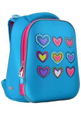 Фото Школьный рюкзак бирюзового цвета YES H-12-1 Hearts Turquoise