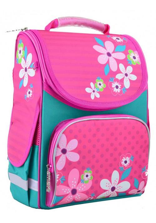 Школьный рюкзак для первоклассницы SMART PG-11 Flowers Pink