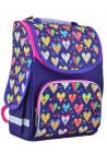 Красный школьный рюкзак для девочки SMART PG-11 Flowers Red