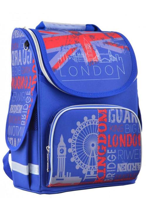 Синий школьный ранец-короб для мальчика SMART PG-11 London