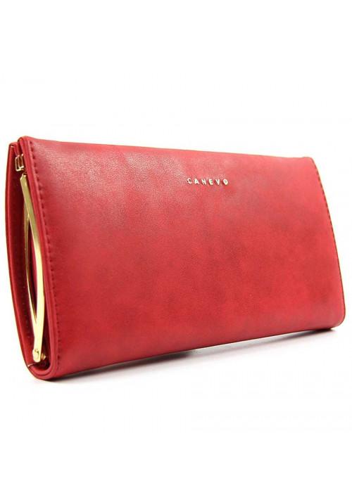Женский кошелек красного цвета Canevo 0235