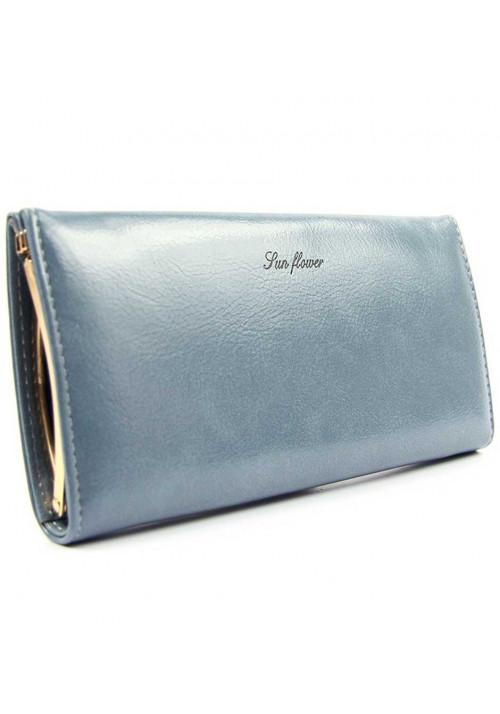 Женский кошелек перламутрового синего цвета SunFloewr