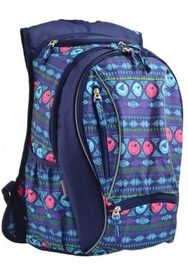 Фото Синий молодежный рюкзак с принтом YES T-28 Play