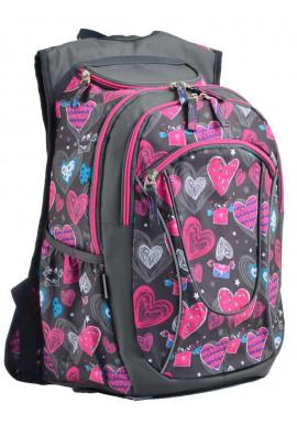 Фото Серый рюкзак с сердечками YES T-29 Ginger