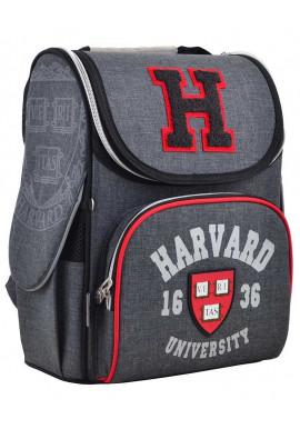 """Фото Серый школьный ранец-короб """"1 вересня"""" H-11 Harvard"""
