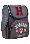 """Серый школьный ранец-короб """"1 вересня"""" H-11 Harvard"""