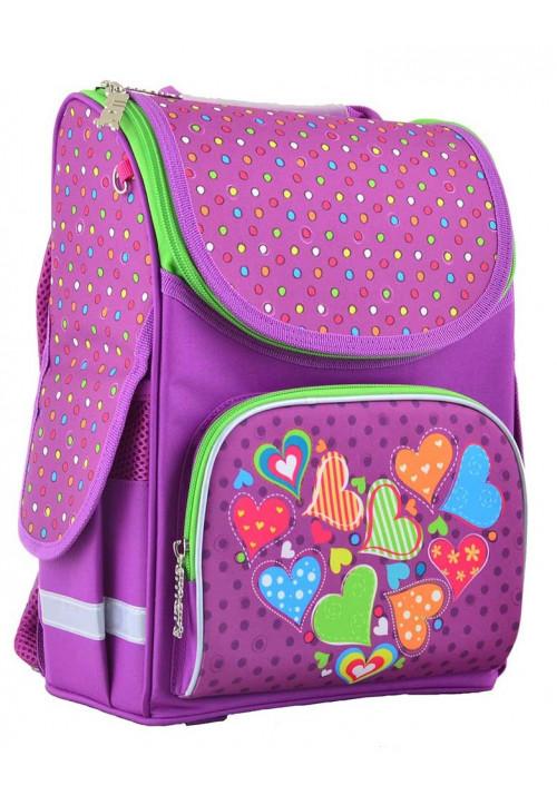 Ранец школьный сиреневый PG-11 Hearts Pink