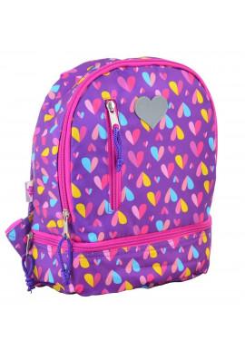 Фото Фиолетовый детский рюкзак YES K-21 Hearts