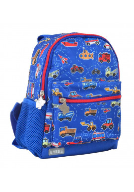 Текстильный дошкольный рюкзак YES K-16 Funny Cars
