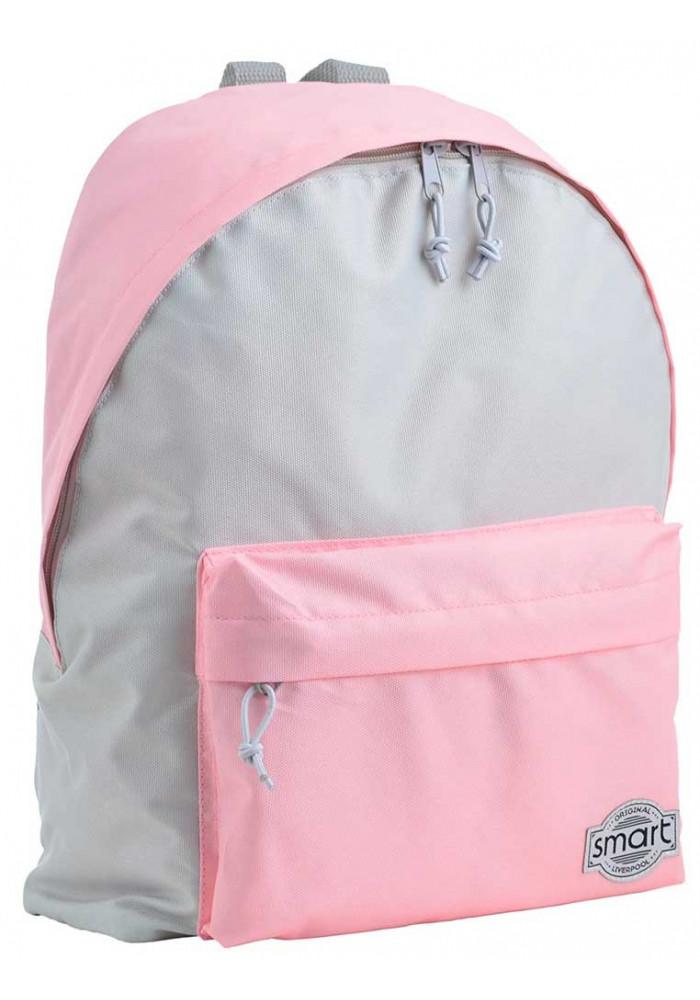 Серо-розовый женский рюкзак SMART ST-29 Cool Gray