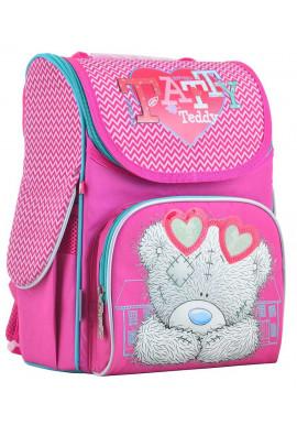"""Фото Розовый каркасный рюкзак для девочки """"1 Вересня"""" H-11 MTY rose"""