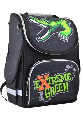 Черный школьный рюкзак для мальчика SMART PG Extreme Green