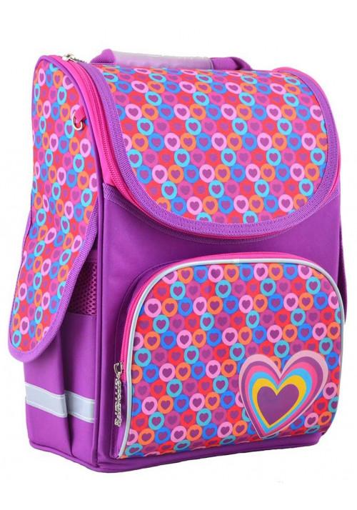 Школьный рюкзак цвета сирени SMART PG-11  Hearts Pink