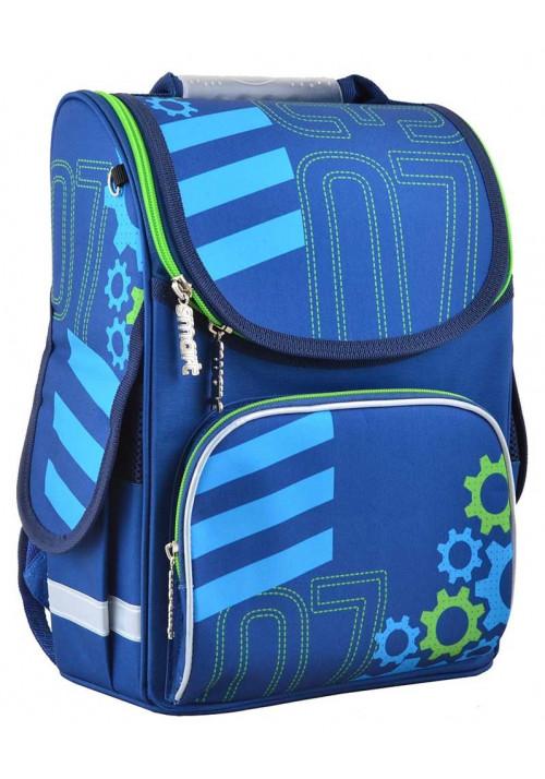 Синий стильный школьный рюкзак SMART PG-11 Mechanic