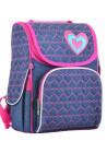Модный рюкзак для школы под джинс YES H-11 Hearts blue