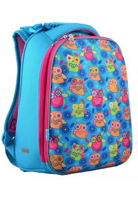 "Фото Рюкзак для школы бирюзового цвета ""1 Вересня"" H-12-1 Owl"