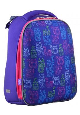 Фото Школьный рюкзак с котами YES H-12-1 Kotomaniya blue