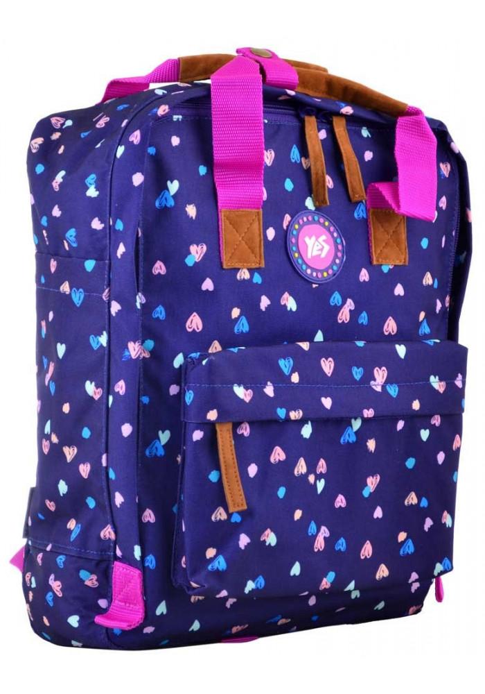 Синяя сумка-рюкзак молодежная YES ST-34 Confetti