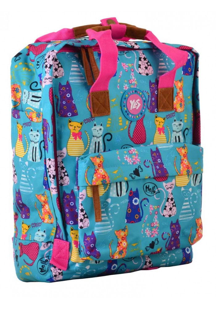 Фото Яркая летняя сумка-рюкзак YES ST-34 Meow