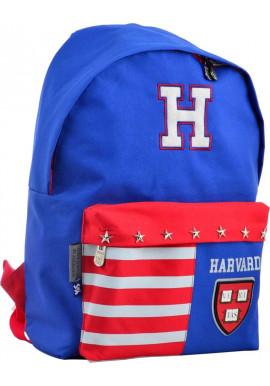 Фото Тканевый сине-красный рюкзак YES SP-15 Harvard blue