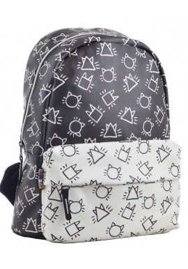 Модный черно-белый рюкзак YES Weekend Fancy ST-28 Shade
