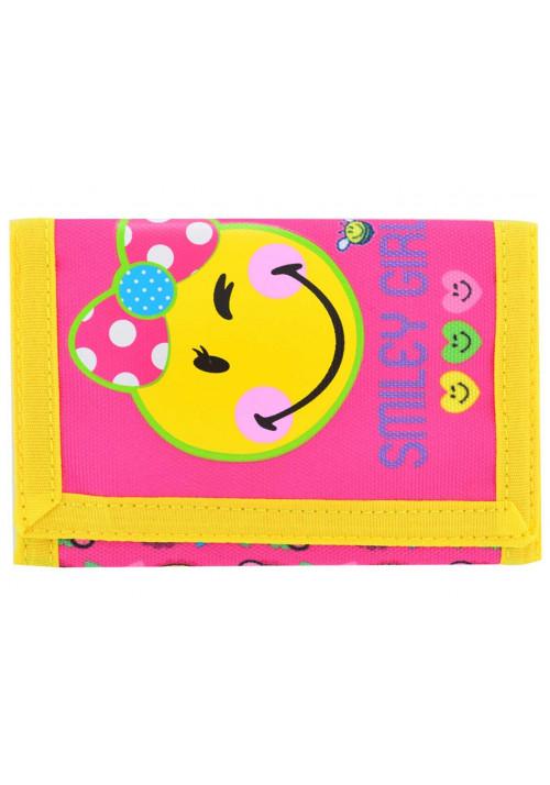 Яркий желтый детский кошелек YES Smiley girl