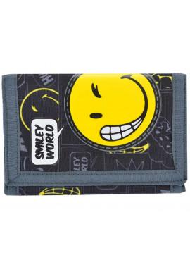 Черный детский кошелек для мальчика YES Smiley world