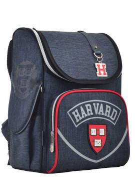 Фото Каркасный школьный рюкзак серого цвета YES H-11 Harvard