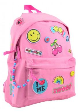 Фото Розовый легкий молодежный рюкзак ST-32 Smiley World