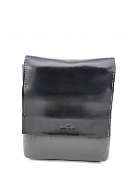 Фото Серо-черная кожаная сумка на плечо Ватто Mk41.12