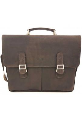 Фото Кожаный мужской портфель Ватто Mk24 коричневый