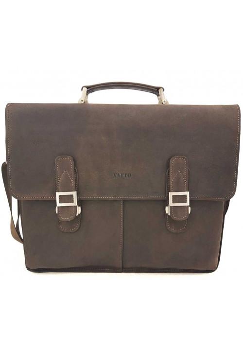 Кожаный мужской портфель Ватто Mk24 коричневый