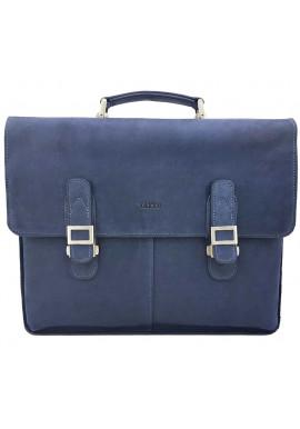 Фото Мужской портфель из синей кожи Ватто Mk24