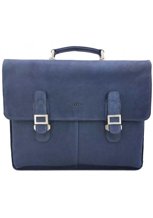 Мужской портфель из синей кожи Ватто Mk24