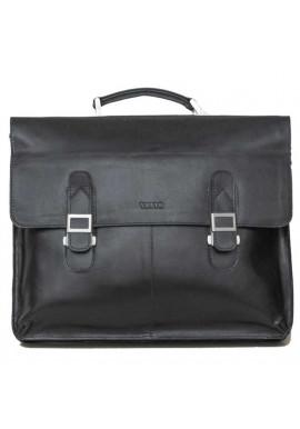 Фото Портфель кожаный черный глянцевый Ватто Mk24