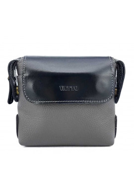 Фото Серо-черная кожаная мужская сумочка Ватто Mk19.2