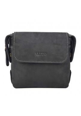 Фото Мужская сумочка из черной матовой кожи Ватто Mk19.2