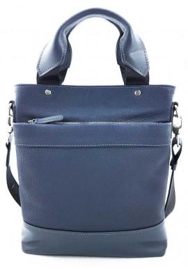 Фото Мужская кожаная сумка с ручками Ватто Mk13.6 синяя