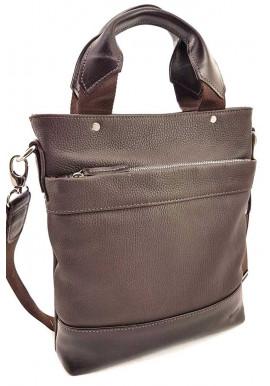 Фото Мужская кожаная сумка с ручками Ватто Mk13.6 коричневая