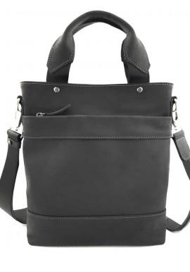 Фото Черная мужская кожаная сумка с ручками Ватто Mk13.6