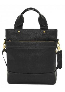 Фото Мужская сумка с ручками из черной кожи Ватто Mk13.6