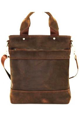 Фото Мужская сумка с ручками из коричневой кожи Ватто Mk13.6
