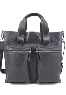 Фото Черная кожаная сумка для документов Ватто Mk6.8