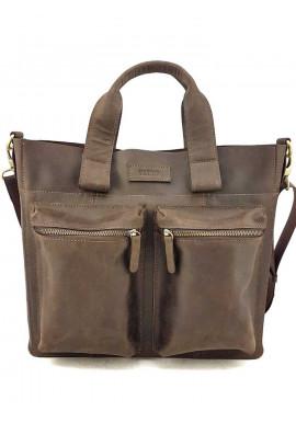 Фото Коричневая кожаная сумка для документов Ватто Mk6.8